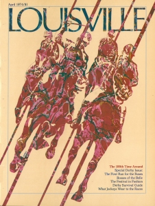 Illustration by Stephen Hall for the 100th running of the Kentucky Derby on the cover of Louisville Magazine.