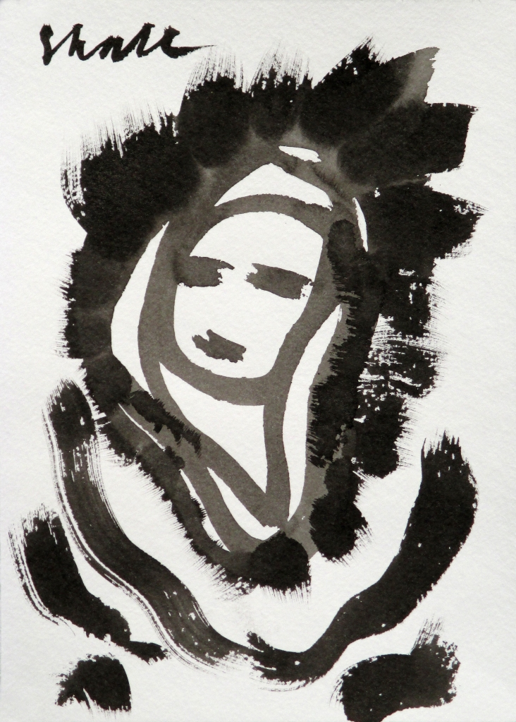 """Sumi ink on archival paper, @8"""" x 10"""" by Stephen Hall"""