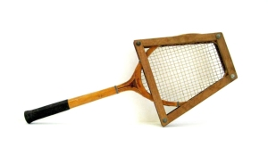 To keep tennis racquets from warping, players had to keep them locked in a tennis press when not playing.