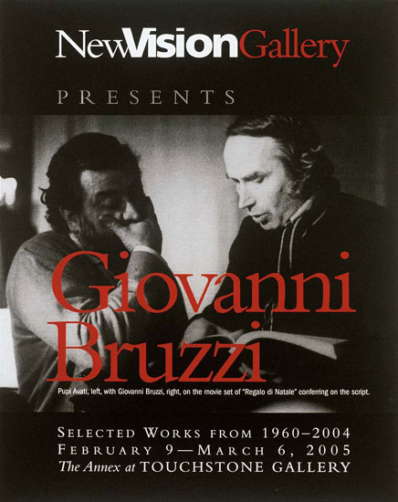 Poster for Bruzzi exhibition in Washington, DC sponsored by Stephen Hall
